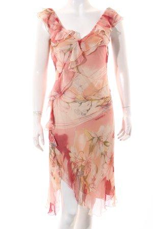 Blumarine Kleid rosa-dunkelrot florales Muster Beach-Look