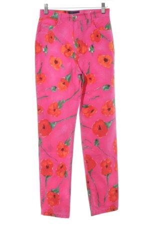 Blumarine Jersey Pants floral pattern street-fashion look
