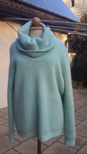 Blumarine Coarse Knitted Sweater light blue-turquoise