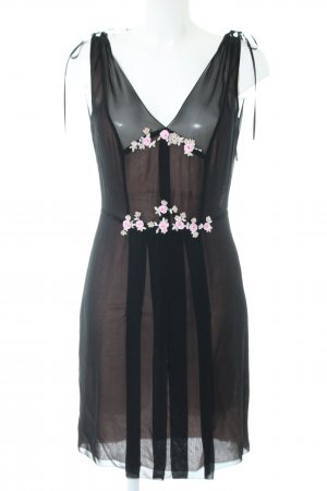Blumarine Minikleid schwarz extravaganter Stil