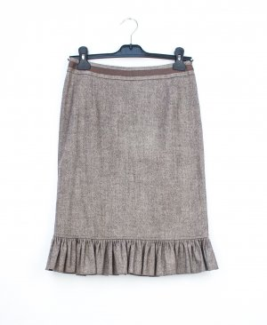 Blumarine Wool Skirt bronze-colored-white