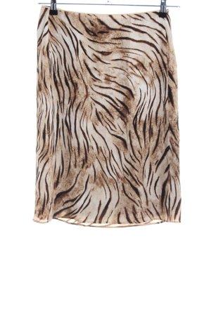 Blumarine Silk Skirt brown-cream animal pattern extravagant style