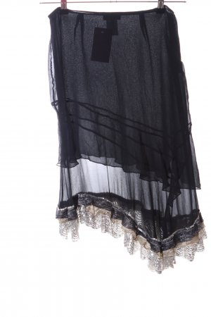 Blumarine Silk Skirt black-cream elegant