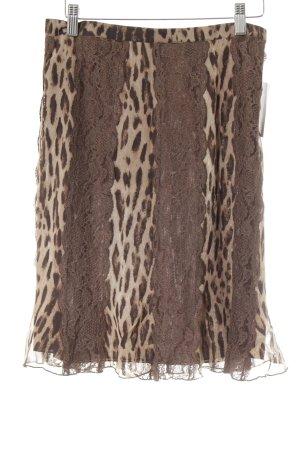 Blumarine Seidenrock dunkelbraun-hellbraun Leomuster Animal-Look
