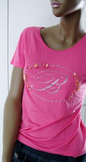 Blumarine Shirt magenta-pink modal fibre