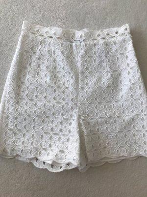 Blumarine Pantalón corto de talle alto blanco