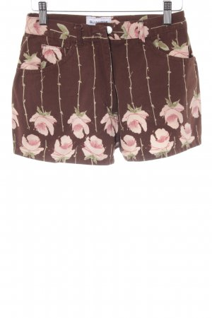 Blumarine Shorts florales Muster Street-Fashion-Look