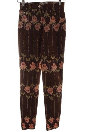 Blumarine Slim Jeans florales Muster Street-Fashion-Look