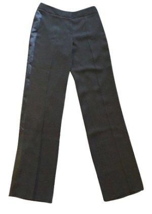 Blumarine Pleated Trousers black cotton
