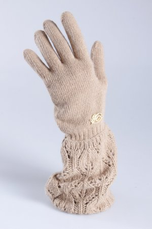 Blumarine Strickhandschuhe beige