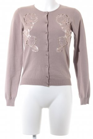 Blumarine Strickjacke hellbraun Casual-Look