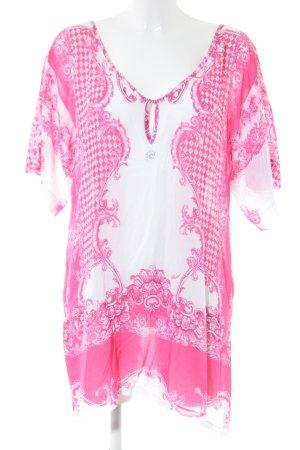 Blumarine Tunikabluse pink-weiß abstraktes Muster Casual-Look