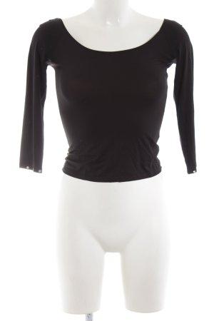Blumarine U-Boot-Shirt schwarz Casual-Look