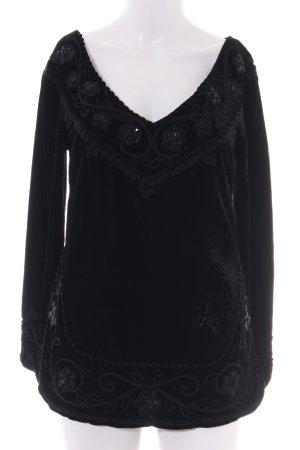 Blumarine V-Ausschnitt-Shirt schwarz Casual-Look
