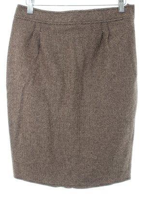 Blumarine Wollen rok beige-zwart bruin abstract patroon zakelijke stijl