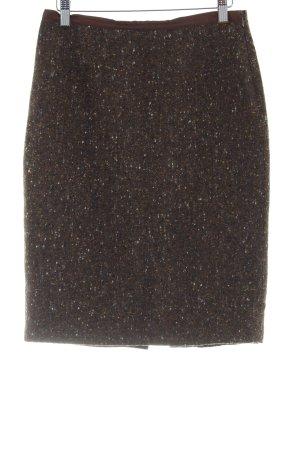 Blumarine Falda de lana marrón claro moteado elegante
