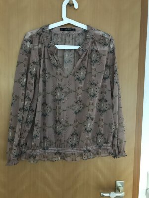 Zara Blouse transparente multicolore