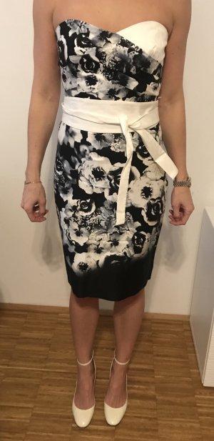 Sandro Ferrone Vestido corsage negro-blanco