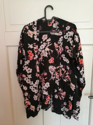 H&M Kimono negro-magenta