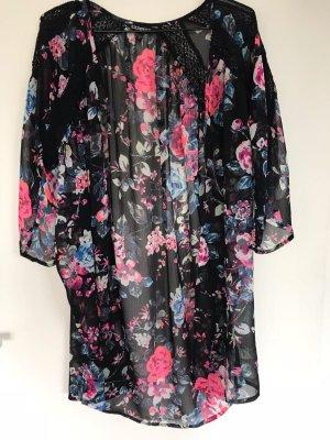 Express Blusa tipo kimono multicolor