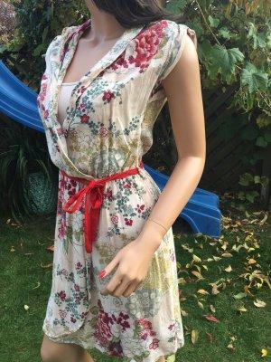 Promod Vestido cruzado rosa-rojo