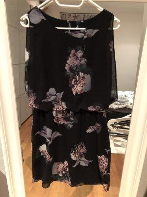 s.Oliver Chiffon jurk zwart-paars