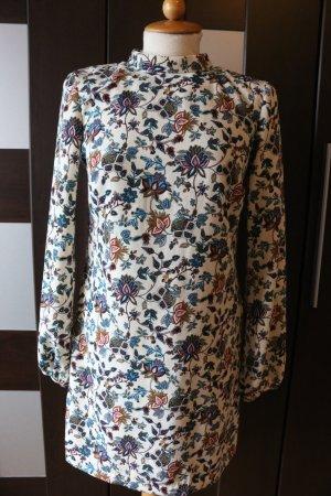 Blumen Kleid Zara Bunt Festival Style Rückenausschnitt