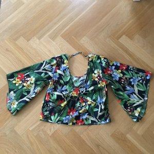 Blumen Oberteil Bunt Zara Basic NEU !!