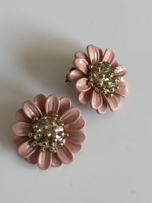 Ear stud pink-gold-colored