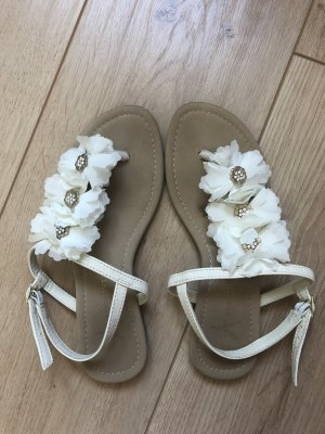 Primark High-Heeled Toe-Post Sandals white-gold-colored