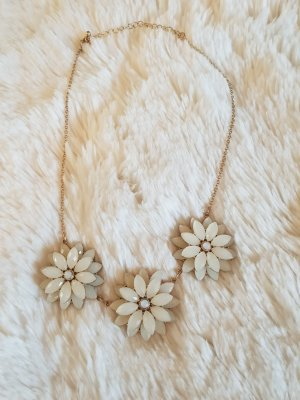 Statement Necklace natural white-sand brown