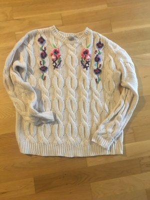 Blumen Strick Pullover
