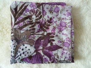 Châle violet-lilas coton