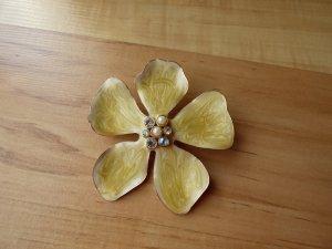 H&M Brooch gold-colored-cream