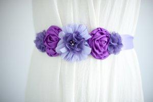 Blumengürtel Gürtel Bauchband lila NEU