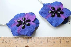 Blumenhaarspangen Blau violette