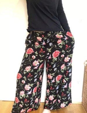 H&M Divided Pantalon large multicolore viscose
