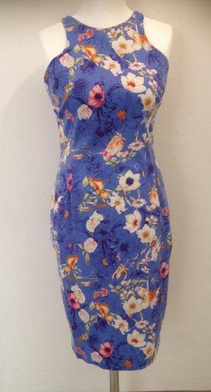 Zara Woman Sheath Dress multicolored cotton