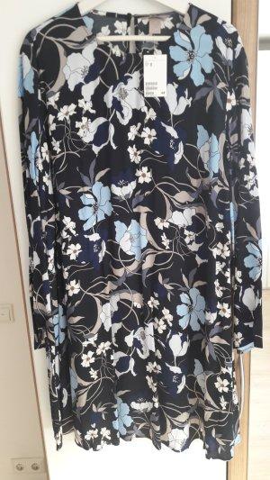 Blumenkleid dunkelblau neu gr 48