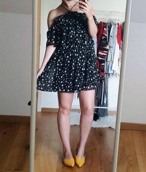 Mango Off-The-Shoulder Dress multicolored