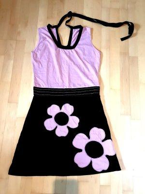 Vestido playero negro-color rosa dorado Algodón