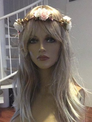 Haarband lichtroze-wit