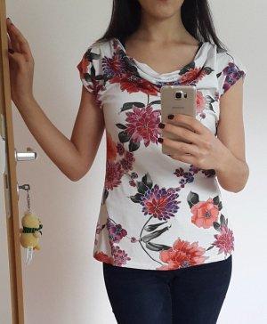 Blumenoberteil wie neu Gr. 36/38/ Bluse/ T-Shirt/ Shirt/ Oberteil/ Top