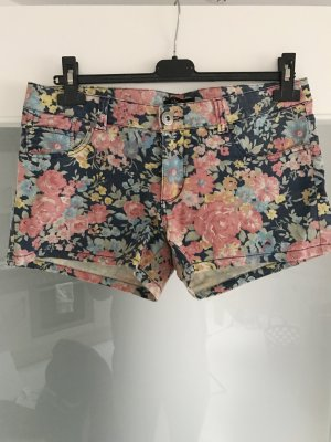 Blumenprint Hotpants shorts Pastell, Größe 40