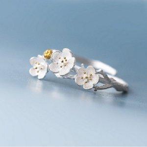 Zilveren ring zilver-goud Zilver