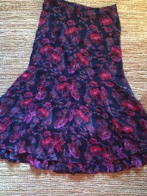 H&M Falda gitana azul-violeta