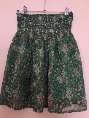 Zara Basic Flared Skirt green-oatmeal