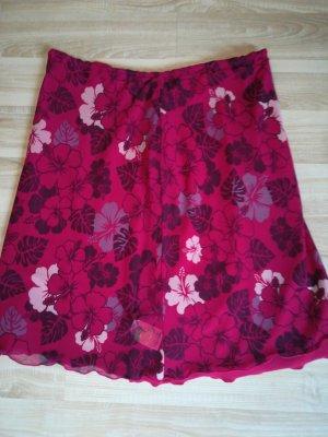 Tchibo / TCM Falda de tafetán magenta-púrpura