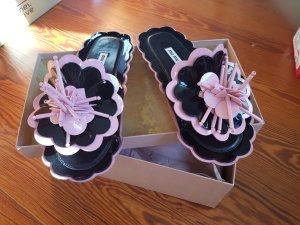 Miu Miu Sabot nero-rosa pallido