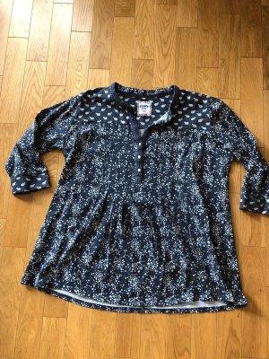 Camisa larga azul oscuro